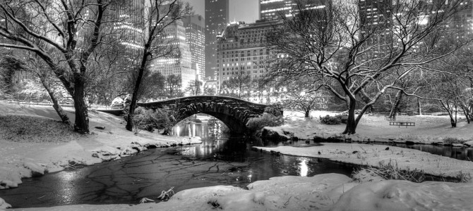Gapstow bridge in snow central park manhattan new york u s