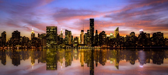Sunset over manhattan new york u s 2